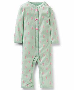 b90676fc6403c Carter's Baby Girls' Sleep 'N' Play Printed Coverall & Reviews - Kids -  Macy's