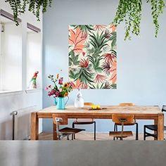 Combo Design is officieel dealer van IXXI ✓Pink Jungle Wallpaper  IXXI ✓ Verschillende varianten verkrijgbaar ✓ Gratis verzending (NL) Om, Prints, Design