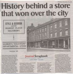 Description of Debenhams store, Salisbury, including execution of Duke of Buckingham Salisbury Homes, Salisbury England, Debenhams, City Style, Business Fashion, Old Photos, Growing Up, Nostalgia, History