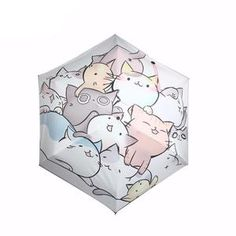 Waterproof fabric and high tech coating, pongee cloth is easy to dry and durable. Fashion cute cats style sunscreen beach umbrella with high quality material.