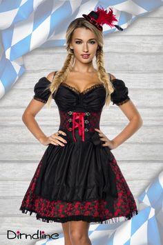 Premium Bluse & #Dirndl rot - My-Kleidung  Onlineshop