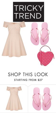 """""""Untitled #43"""" by brittneycool10 on Polyvore featuring River Island, Havaianas, Moschino, TrickyTrend and culottes"""