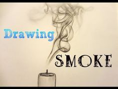 How to draw ¤ SMOKE ¤ with a pencil - YouTube