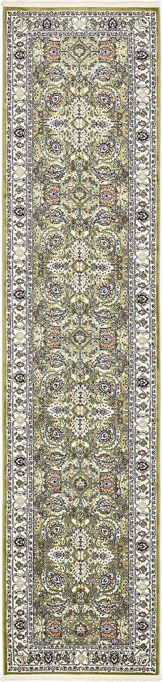 Tabriz Green/Tan Area Rug