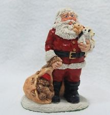 1989 JOLLY OLD ELF COLLECTION - Santa with Puppies - original box.