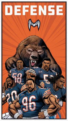 Chicago Football, Nfl Chicago Bears, Bears Football, Chicago Bears Wallpaper, Chicago Bears Super Bowl, Nfc North, King In The North, 3d Printing, Fantasy Football