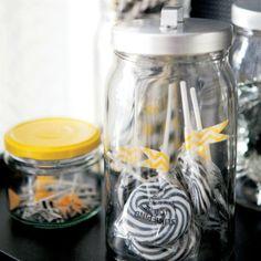 BURKEN jar with lid Clear glass/alumin.