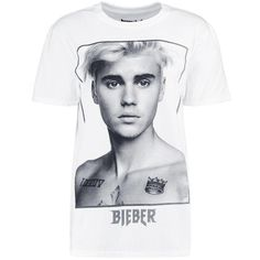Boohoo Cara Justin Bieber License Tee ($20) ❤ liked on Polyvore featuring tops, t-shirts, camisetas, bralette crop top, cotton jersey, cotton t shirts, cotton camisole and off shoulder tee