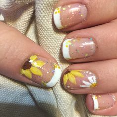 Sunflowers nails