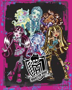Monster High - Group - Official Mini Poster. Official Merchandise. FREE SHIPPING