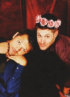 Misha Collins and Jensen Ackles attend Salute to Supernatural convention Las Vegas (VegasCon) 2014