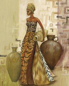 Safari Fashions II Posters by Julia Hawkins Black Girl Art, Black Women Art, Black Art, Afrique Art, African Art Paintings, African American Art, African Culture, African Design, Female Art