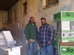 The guys of Askia Enterprise- using InSoFast insulation panels in a commercial project