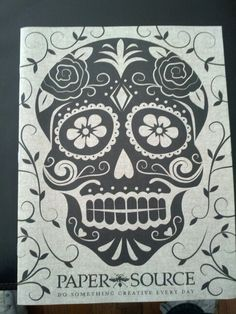 papersource sugar skull