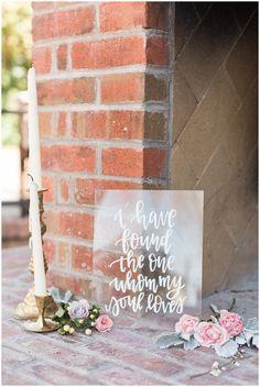 Jen Jinkens Photos Downtown Phoenix | Urban Spring Wedding | Jen Jinkens Photography | Amazing Wedding Details | Wedding Calligraphy