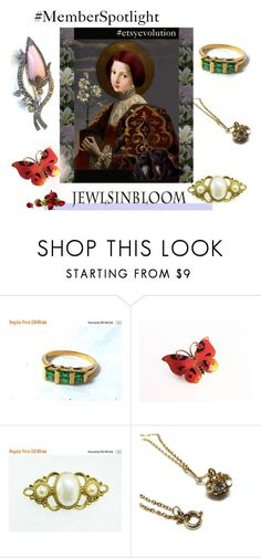 """""""#MemberSpotlight #etsyevolution @JewlsinBloom"""" by seasidecollectibles ❤ liked on Polyvore featuring 1921, vintage, MemberSpotlight, vintagejewelry, polyvoreset, EtsyShops and etsyevolution"""