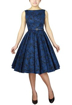 1950s Sleeveless Belted Dress by Amber Middaugh (Plus 49.95 and Standard Size $43.95)