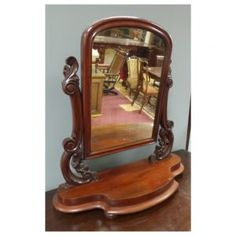 Victorian vanity mirror in mahogany. Vanity, Victorian, Mirror, Table, House, Furniture, Ideas, Home Decor, Dressing Tables