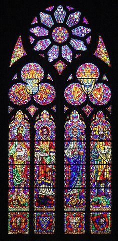 Wroclaw cathedral window.