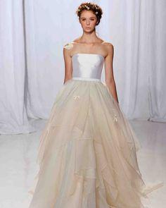 Reem Acra Fall 2017 Wedding Dress Collection   Martha Stewart Weddings – Strapless ball gown wedding dress