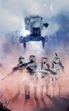 Stunning #StarWars artwork 'Imperial Bad Boys' by Jose Angel Trancón #Stormtroopers