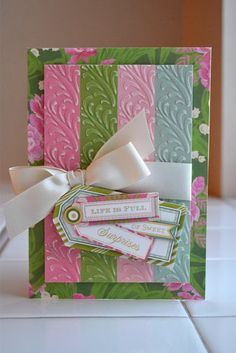 Need DIY ideas for scrapbooking, cardmaking, or paper crafts? Find tutorials & project inspiration to help you celebrate and document your life! Card Making Machine, Scrapbook Cards, Scrapbooking, Craft Projects, Projects To Try, Anna Griffin Cards, Embossed Cards, Favorite Pastime, Card Tags