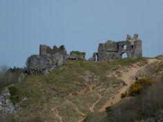 Pennard Castle, near Three Cliffs Bay, Gower Peninsula, Wales