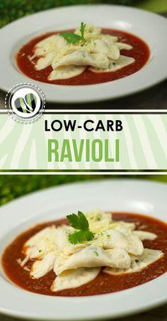 Die low-carb Ravioli sind nicht nur lecker sondern auch noch glutenfrei.