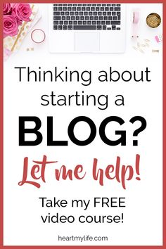 Many people dream of starting an online business to make money from home. Blogging is a great way to make money online and create a lifestyle of personal freedom if you know how. Learn how to start an online blogging business and sign up for the free course to start a blog to make money. #bloggingforbeginners #workfromhome #onlinebusiness #startablog #heartmylife