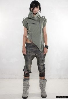 Futuristic Clothing, Collection, Demobaza, future fashion, urban style, dystopian fashion, post-apocalyptic fashion, fashion girl by FuturisticNews.com