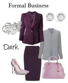 Formal Business Dark by natalia-minnigalimova on Polyvore featuring мода, Elie Tahari, Claude Montana, Havren, Casadei, Studio Pollini, David Yurman and Nina