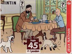 TINTIN  Puzzle - Petit Déjeuner à Moulinsart - Nathan