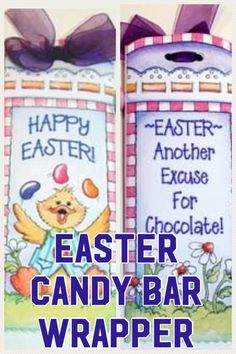 Cute, Easy To Make, Easter Hershey(TM) Candy Bar Wrapper Printable...When You Want To Give Something A Little Different To Your Friends and Family At Easter. #easter #ad #eppartyad