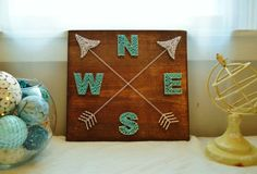 Compass Arrow String Art by PurplePalletDesigns on Etsy