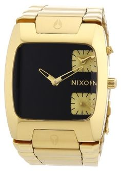 Men's Wrist Watches - Nixon Banks All Gold Black Mens Watch A060510 * To view further for this item, visit the image link.