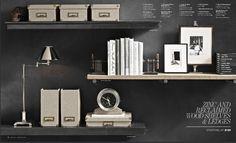 Restoration Hardware   3 shelves idea