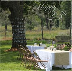 how awesome are those photos around the tree! via @Holly Mathis you could do it for any type of party!