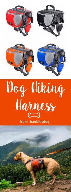 Harness Dog Saddlebags Pack Hound Travel Camping Hiking