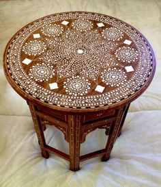 Handmade Indian Inlaid Table Stunning Inlay Work in Crafts, Hand-Crafted Items | eBay