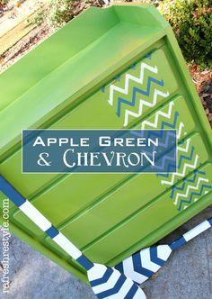 Apple Green & Chevron Dresser