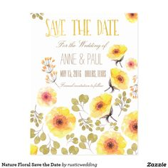 Nature Floral Save the Date