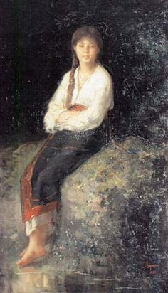 Rodica la parau - Nicolae Grigorescu Art History Major, Human Pictures, History Teachers, Portraits, Figure Painting, Wall Art, Drawings, Matisse, Oil Paintings