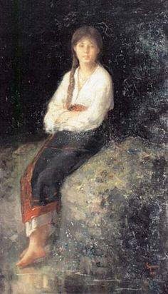 Rodica la parau - Nicolae Grigorescu