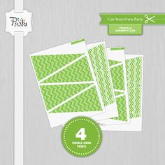 Items similar to Lime Green Chevron 4 Triangle Banner Flag Prints Cut-Your-Own-Party Decorations on Etsy Orange Party, Purple Party, Green Party, Triangle Banner, Purple Chevron, Pink Parties, Colorful Party, Pink Paper, Print And Cut