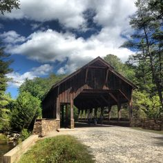 I have walked and ridden my bike on this road at this Covered bridge in Dupont State Forest NC North Carolina. miss the forest North Carolina Hiking, North Carolina Homes, Places To Travel, Places To See, Dupont State Forest, Lake Lure, What A Wonderful World, Covered Bridges, Barns