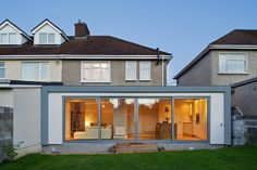 change semi detached ground floor layout to open plan House Extension Ireland, House Extension Plans, House Extension Design, Roof Extension, Extension Ideas, Extension Google, 1930s House Extension, Up House, House Windows