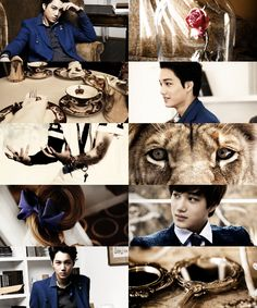 EXO starring in fairytales→ Kai as the Beast/prince Adam( Beauty and the Beast )