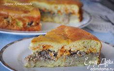 Заливной пирог с рикоттой и сайрой | Кулинарные рецепты от «Едим дома!»