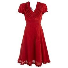 Red ruffle neck shirt dress - Day dresses - Dresses - Womens - Debenhams