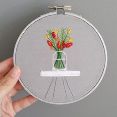 #flower  #embroidery by becoproductions